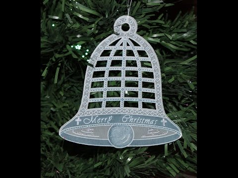 Parchment Craft PCA - 62 TP7140E EasyCut Large Christmas Bell Demo