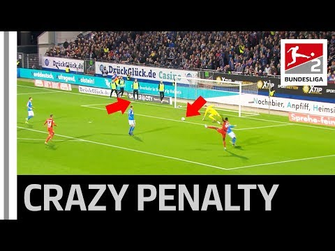 Substitute Causes Craziest Ever Penalty In Bundesliga 2 12th Man On The Pitch Youtube