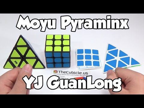 Moyu Pyraminx and YJ GuanLong Unboxing | Thecubicle.us