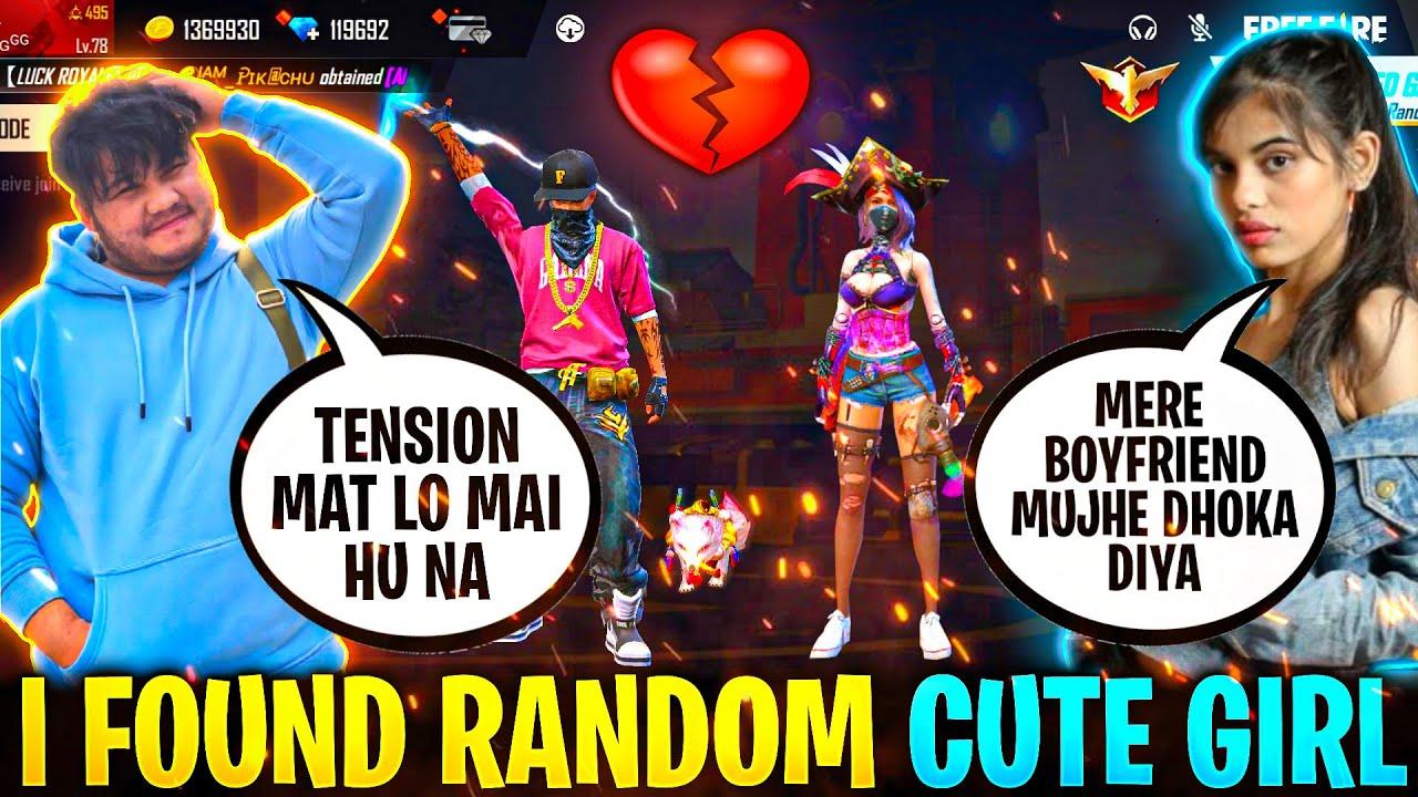 2B GamerFlirting With Cute Girl On Random Rank Gameplay ||Did I Propose Her || Garena Freefire