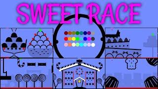 24 Marble Race EP. 23: Sweet Race (by Algodoo)