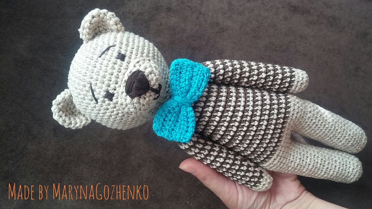 мордочка медведя крючком схема