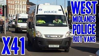 West Midlands Police Riot Vans X41 (psu/osu/dog) Iveco Dailies & Peugeot Boxers Responding