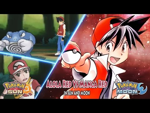 Pokemon Sun And Moon Alola Red Vs Manga Red (Pokemon Adventures)