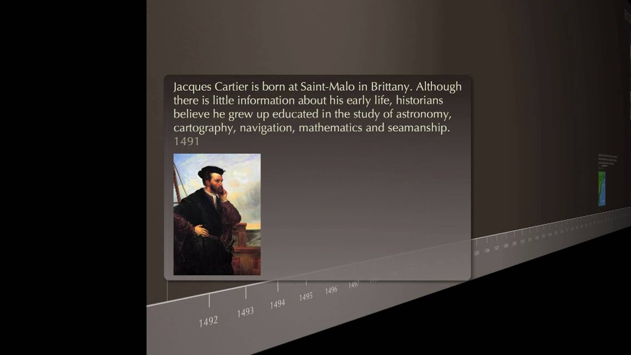Timeline Trips Of Jacques Cartier English