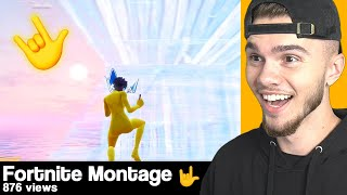 REACTING to my fans FORTNITE MONTAGES... (part 38)