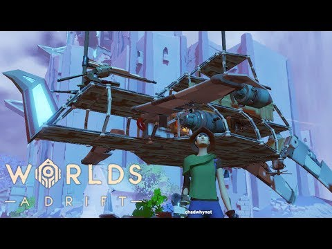 REPAIRING THE DAMAGE TO OUR SHIP AND BUILDING A NIMBLE FIGHTER JET!  | Worlds Adrift Closed Beta