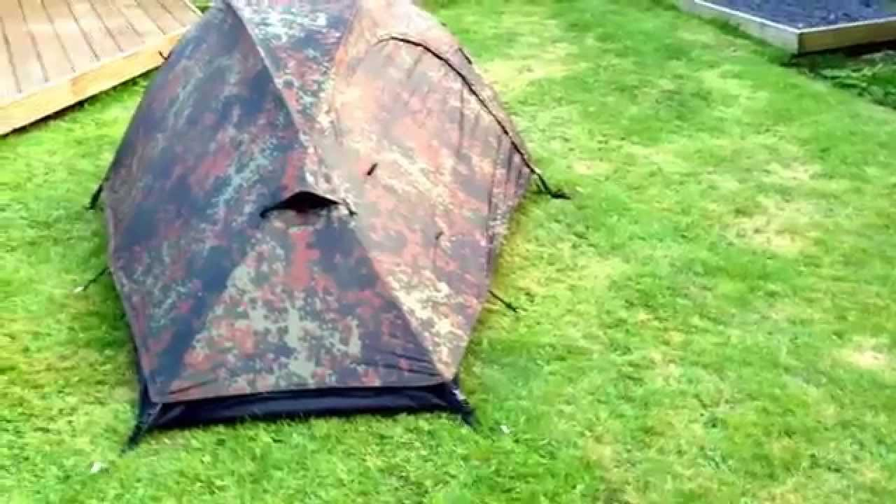 Mil Tec Recon 1 man tent in Flecktarn. This is not a VR for the Beardedclam ;) - YouTube & Mil Tec Recon 1 man tent in Flecktarn. This is not a VR for the ...