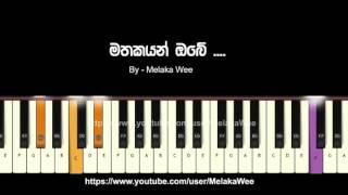 Mathakayan obe Chords / instrumental tutorial / Cover / KeyBoard chords / karoke