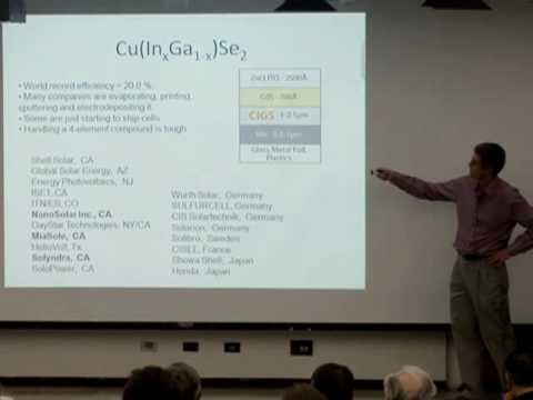 Solar Cell Technology in 2009 and Beyond