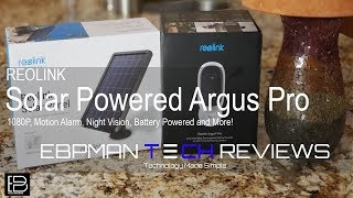 REOLINK Argus Pro Wireless Rechargeable Solar Powered Security Camera 1080P