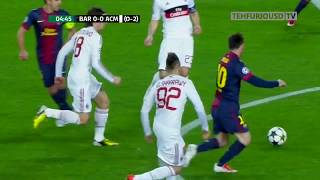FC Barcelona vs AC Milan 4 0 Highlights with English Commentary UCL 2012 13