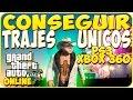 TRUCOS GTA 5 ONLINE - CONSEGUIR TRAJES UNICOS - GTA 5 PS3 Y XBOX 360