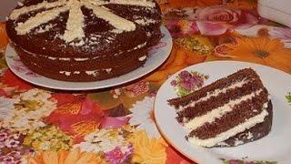"""Вкусный, простой торт """"Черный принц"""" в мультиварке"""