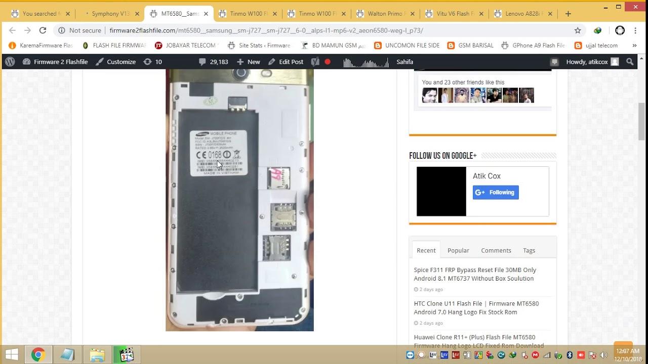 MT6580 Samsung SM J727 SM J727 6 0 ALPS L1 MP6 V2 AEON6580 WEG L P73
