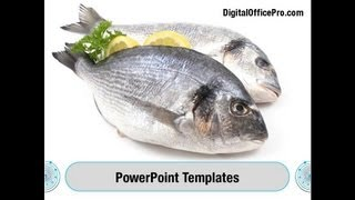 Fish Products PowerPoint Template Backgrounds - DigitalOfficePro #01164