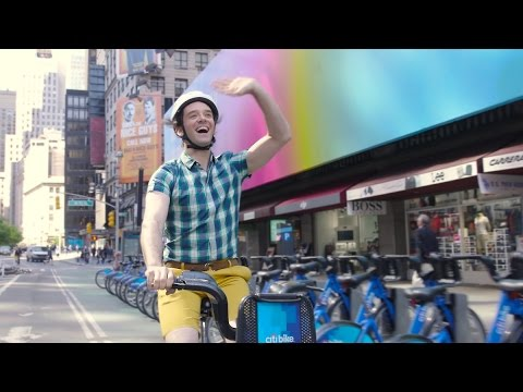 Michael Urie Takes a StarStudded Citi Bike Ride to the Drama Desk Awards