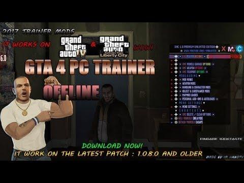TUTO FR : INSTALLER LE TRAINER (ONLINE/OFFLINE) DE GTA IV EN 1 0 8 0 SUR PC  + PREUVE !