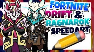 CARTOON SPEEDART-Drift e Ragnarok * temporada Fortnite 5 Skins * (estilo Cuphead)