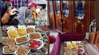 لاول مره رحت زيارة العيد عند اهلى وعملو معيا الجولاشه والمطبخ المتواضع والنيش الأسرى