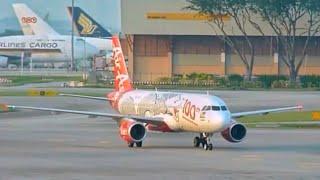 Video AirAsia 100th Aircraft Dragon Livery A320 [9M-AQH] taxiing to gate download MP3, 3GP, MP4, WEBM, AVI, FLV Agustus 2018