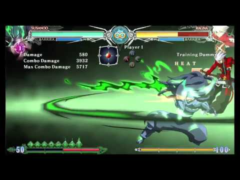 "BlazBlue Central Fiction - Susanoo's ""Strike of the Possessed God"""
