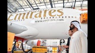 محمد بن راشد يزور مصنع طائرات إيرباص بمدينة هامبورغ