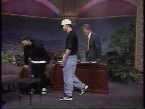 Donnie Wahlberg and Marky Mark on Jay Leno Loungin