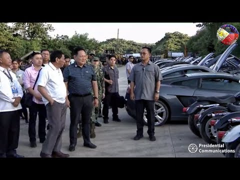 PRESIDENT DUTERTE WITNESS THE DESTRUCTION OF CONTRABAND LUXURY VEHICLES IN CAGAYAN