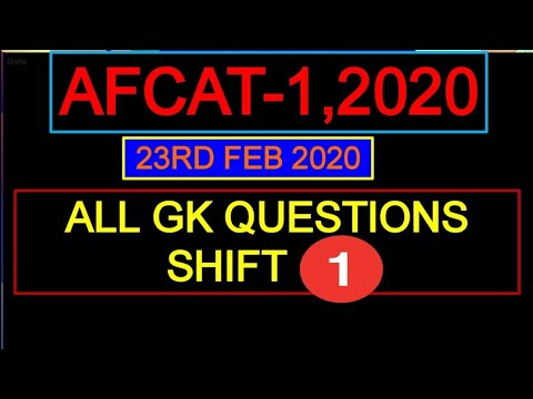 Afcat 1 2020 Exam 23  February shift 1 all Questions with answers
