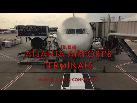 Touring Atlanta Airport Tunnel, Tram And Terminals On A Long Connection