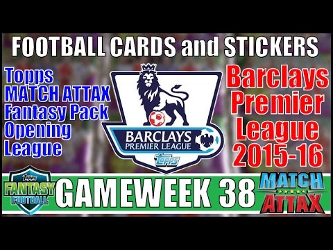 Download FOOTBALL CARDS & STICKERS ⚽️ GAMEWEEK 38 ⚽️ TOPPS MATCH ATTAX PREMIER LEAGUE 2015-16 Trading Cards