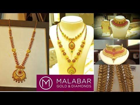 178d2a34a Pearl Pendant Gold Necklace Design Set | Malabar Gold and Diamonds ...