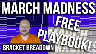 Bracket Breakdown | Free Basketball Playbook! | March Madness NCAA Tournament Thoughts