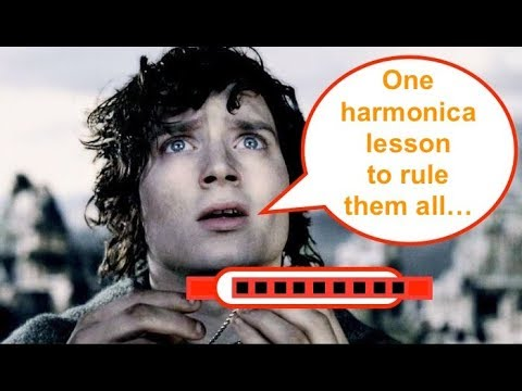 Lord of the Rings - easy C harmonica lesson (Concerning Hobbits / The Shire / Main Theme)
