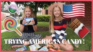 TRYING AMERICAN CANDY IN USA  - izaandelle