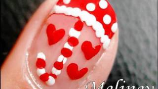nail art tutorial raining love valentine s day design for short nails inspired by julieg713