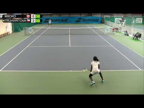 MBOKO (CAN) vs FRUHVIRTOVA (CZE) - Open Super 12 Auray Tennis - Court 3
