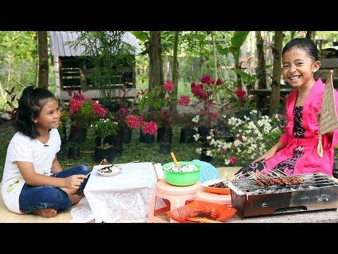 What if shinta jadi Penjual Sate Ayam - Little princess shinta - Kids Parody Video