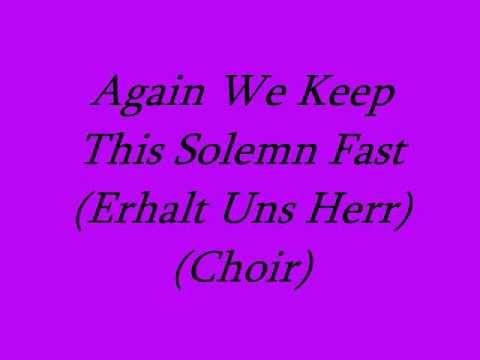 Again We Keep This Solemn Fast (Choir)