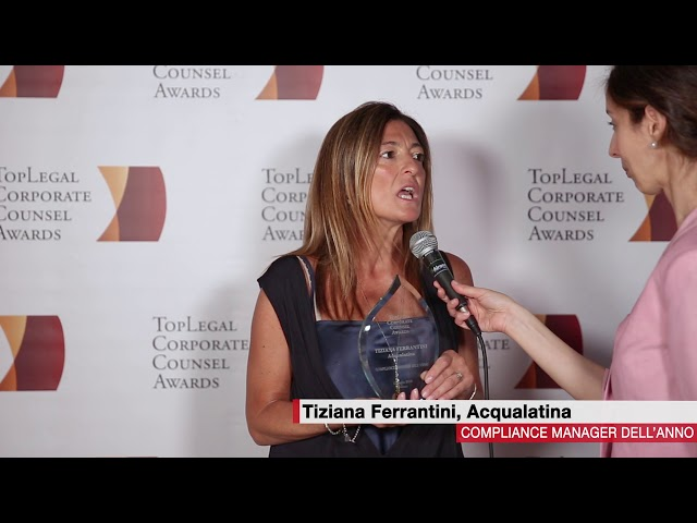 Tiziana Ferrantini, Acqualatina  - TopLegal Corporate Counsel Awards 2018