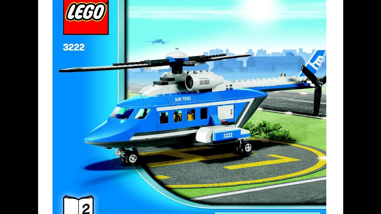 Lego City Helicopter Limousine 3222 Instructions Diy Book 2 Youtube