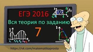 Четкое пособие для задания 7. ЕГЭ 2019 Математика профильный уровень. #ЕГЭ2019