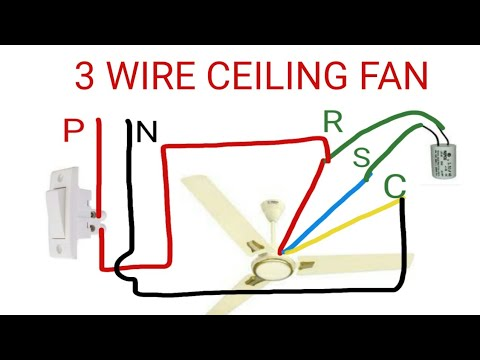 3 WIRE CEILING FAN CONNECTION  YouTube