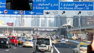 New Bridge on Sheikh Zayed Road in Dubai opened today 07.01.2016