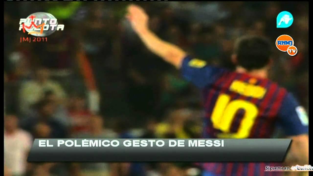 Messi Provocando Real Madrid Supercopa 2011