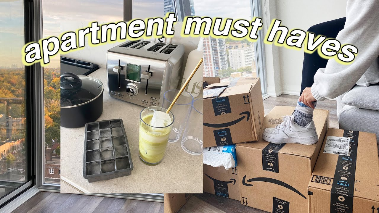 Download 25 Amazon ESSENTIALS I bought for my new apartment!