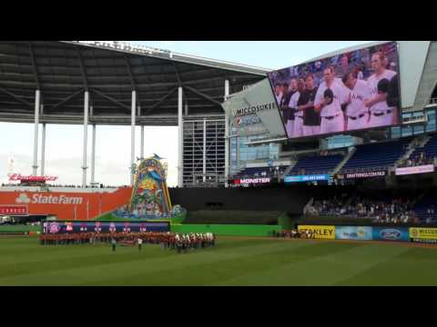 Ramblewood Middle School Marching Band Marlins 2016 National Anthem