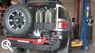 Installing Metal Tech FJ Cruiser Red Eye Bumper