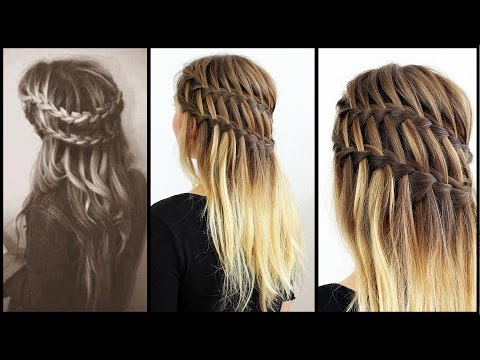 download video doppelter waterfall braid frisuren freitag. Black Bedroom Furniture Sets. Home Design Ideas